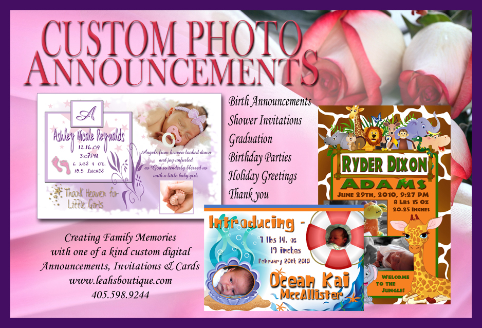 Leahs boutique all about your lil princess hairbows hair bows personal digital birth announcements invitations greeting cards collages business card design or any other graphic need your creation is endless reheart Choice Image
